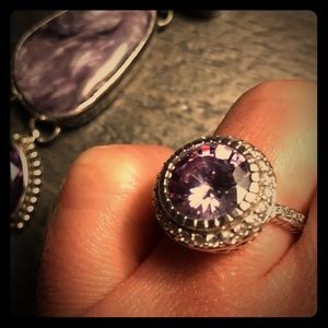 Jewelry - Sterling silver and purple amethyst ring
